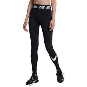 Nike Tight Fit Black Cotton Full Length Leggings